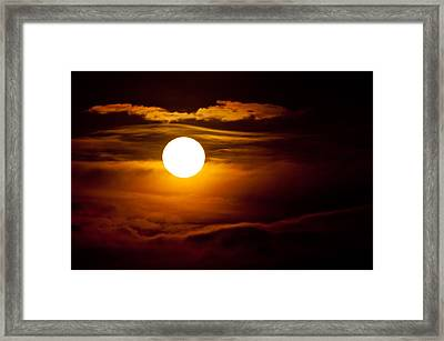 Morning Moonset Framed Print