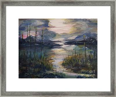 Morning Mountain Cove Framed Print