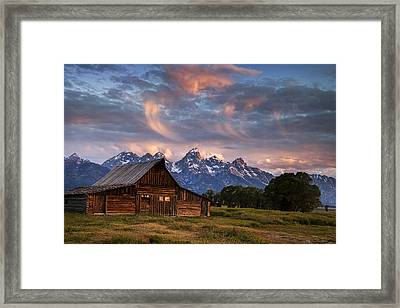 Morning Mountain View Framed Print by Andrew Soundarajan
