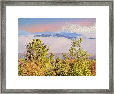 Morning Mountain View Northern New Hampshire. Framed Print