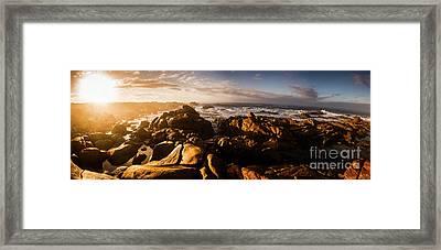 Morning Ocean Panorama Framed Print