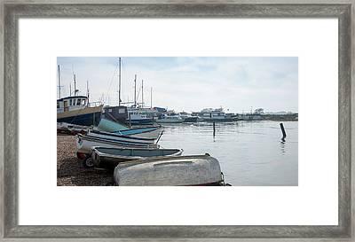 Morning Old Harbor Framed Print by Svetlana Sewell