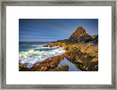 Framed Print featuring the photograph Morning On Bailey Island by Rick Berk