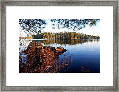 Morning On Chad Lake 2 Framed Print by Larry Ricker