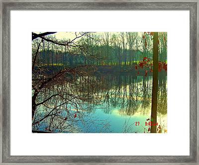 Morning On Farrington Lake Framed Print by Aron Chervin