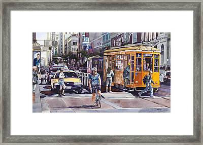 Morning On Market Street Framed Print by Mike Hill