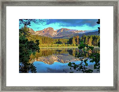 Morning On Sprague Lake - Rocky Mountain National Park Framed Print by Gregory Ballos