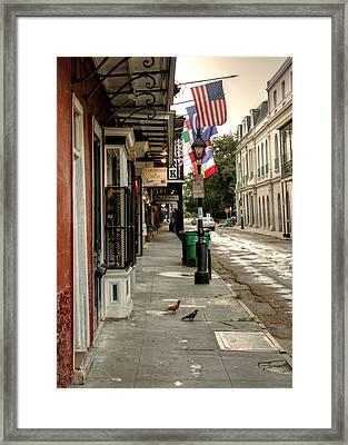 Morning On St. Ann Street Framed Print by Chrystal Mimbs