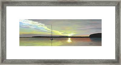 Morning On The Bay Framed Print