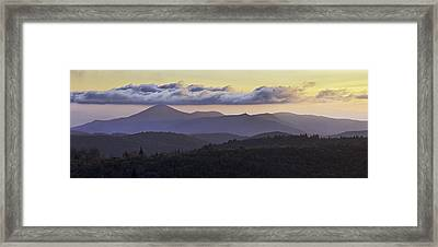 Morning On The Blue Ridge Parkway Framed Print by Rob Travis