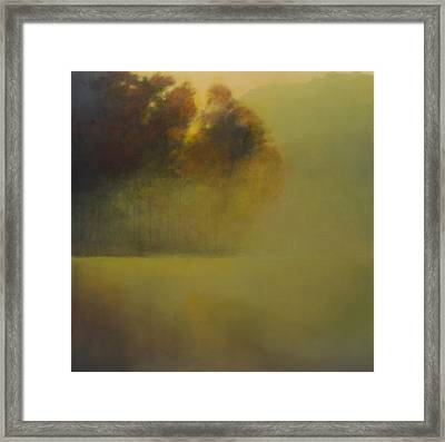Morning On The Buffalo Framed Print