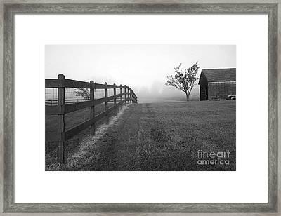 Morning On The Farm        Bw Framed Print
