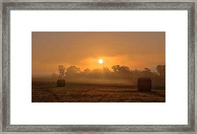 Morning On The Farm Framed Print by Ron  McGinnis