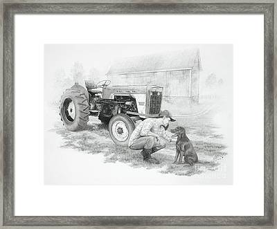 Morning On The Farm Framed Print by Stephen McCall