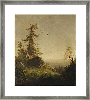 Morning On The Mountain Framed Print by MotionAge Designs