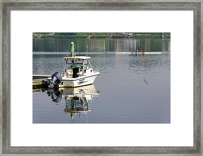 Framed Print featuring the photograph Morning On The Navesink River 2 by Gary Slawsky