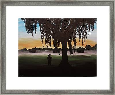 Morning On The Rifle Range Framed Print by Danya Ozmore