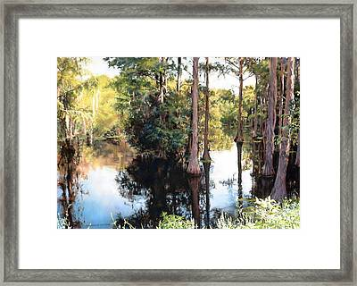 Morning On The River Framed Print by Marion  Hylton