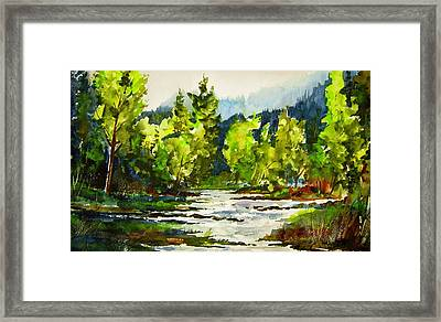 Morning On The River Framed Print by Wilfred McOstrich
