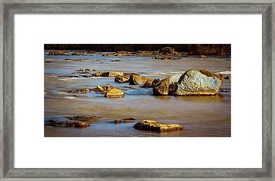 Morning On The Rocky River Framed Print