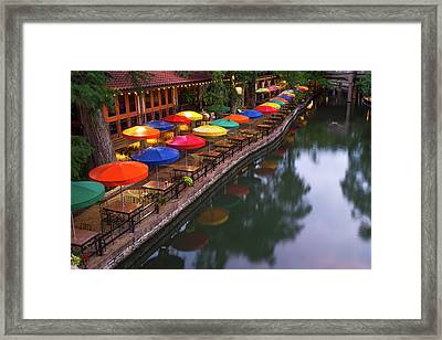 Framed Print featuring the photograph Morning On The San Antonio Riverwalk by Gregory Ballos