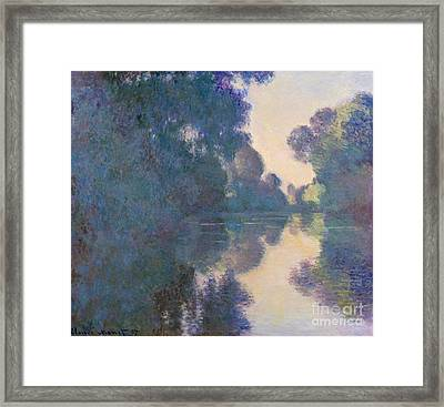 Morning On The Seine Near Giverny, 1897 Framed Print by Claude Monet
