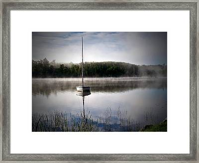 Morning On White Sand Lake Framed Print by Lauren Radke