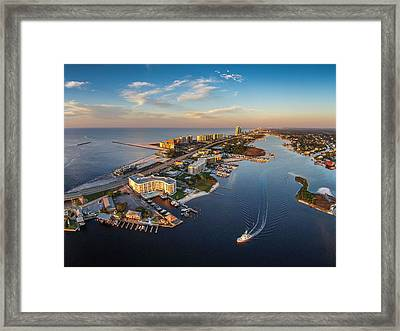 Morning Over Cotton Bayou And Perdido Pass  Framed Print