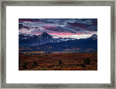 Framed Print featuring the photograph Morning Over The Rockies by Andrew Soundarajan