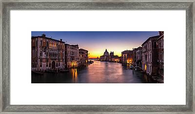 Framed Print featuring the photograph Morning Over Venice by Andrew Soundarajan