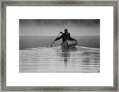 Morning Paddle Framed Print