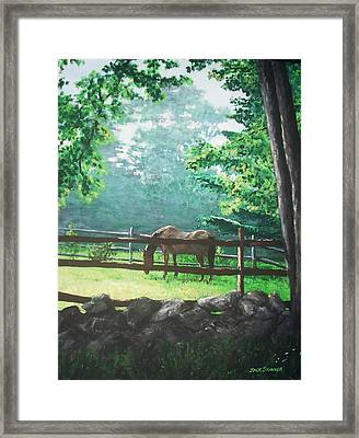 Morning Pasture Framed Print by Jack Skinner