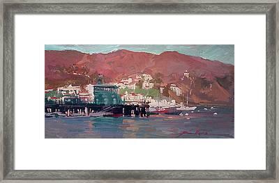 Morning Pleasures - Catalina Harbor Framed Print