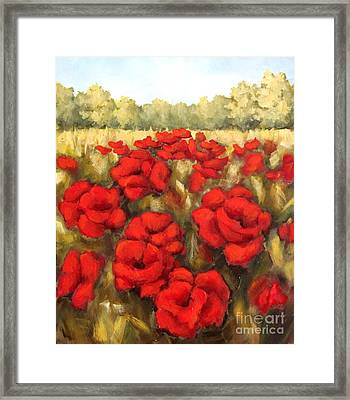 Morning Poppies Framed Print