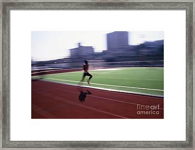 Morning Practice Framed Print by Carlos Alvim