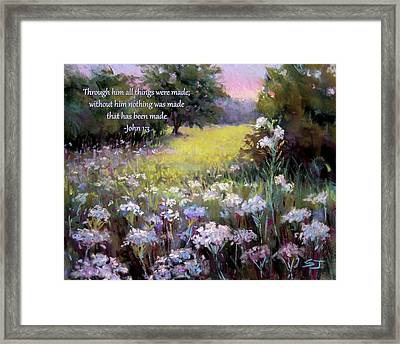 Morning Praises With Bible Verse Framed Print
