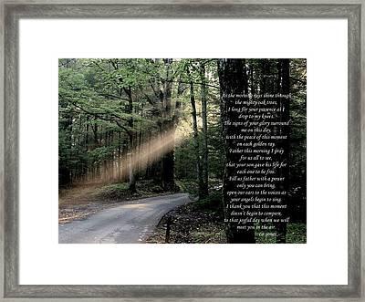 Morning Prayer Framed Print by Chris Jones