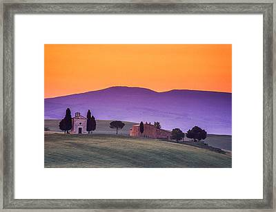 Morning Prayer In A Tuscan Dawn Framed Print by Andrew Soundarajan