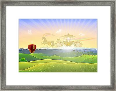 Morning Promenade Framed Print by Harald Dastis