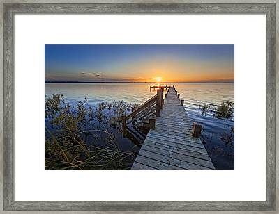 Morning Quiet Framed Print by Debra and Dave Vanderlaan