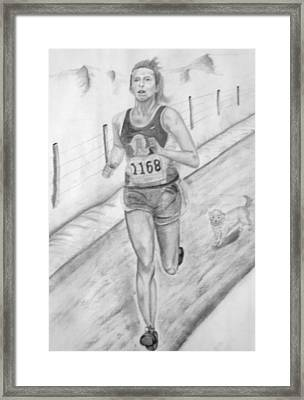 Morning Race Framed Print by Russ  Smith
