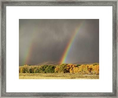 Morning Rainbow In Wyoming Framed Print by Dawn Senior-Trask