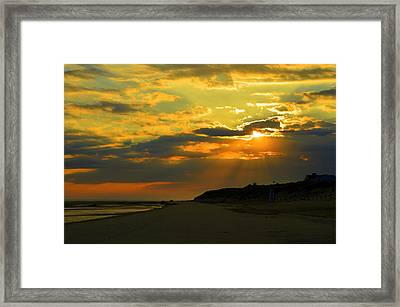 Morning Rays Over Cape Cod Framed Print