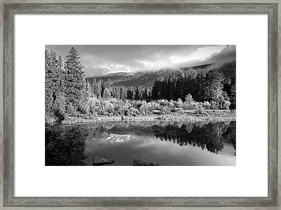 Morning Reflections - Black And White - Colorado Landscape Framed Print by Gregory Ballos