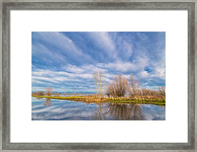 Morning Reflections Framed Print by Kathleen Bishop