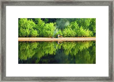 Morning Reflections Framed Print by Svetlana Sewell