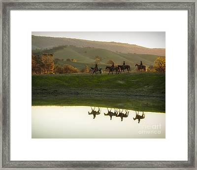 Morning Ride Framed Print by Ana V Ramirez