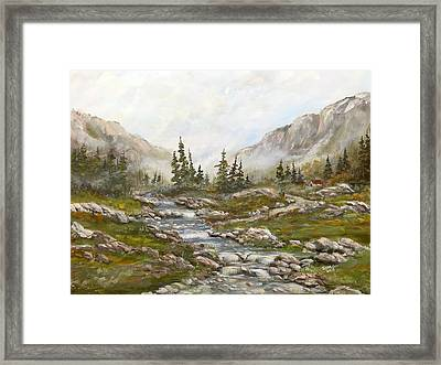 Morning Rising Fog Framed Print