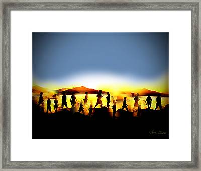 Morning Routine Framed Print