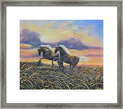 Morning Run Framed Print